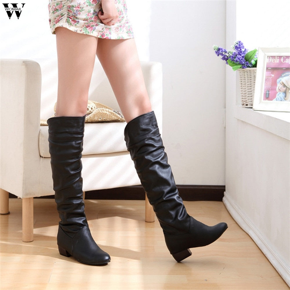 Sexy Over The Knee High Suede Women Snow Boots Women's Fashion Winter Thigh  High Boots ...