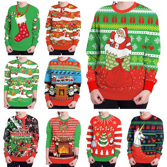 Stylish Christmas Sweater Novelty Female Tops Clothes