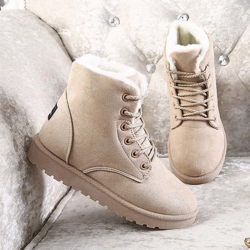 4152f8d3d Classic Women Snow Boots Super Warm Winter Boots Suede Lace-up ...