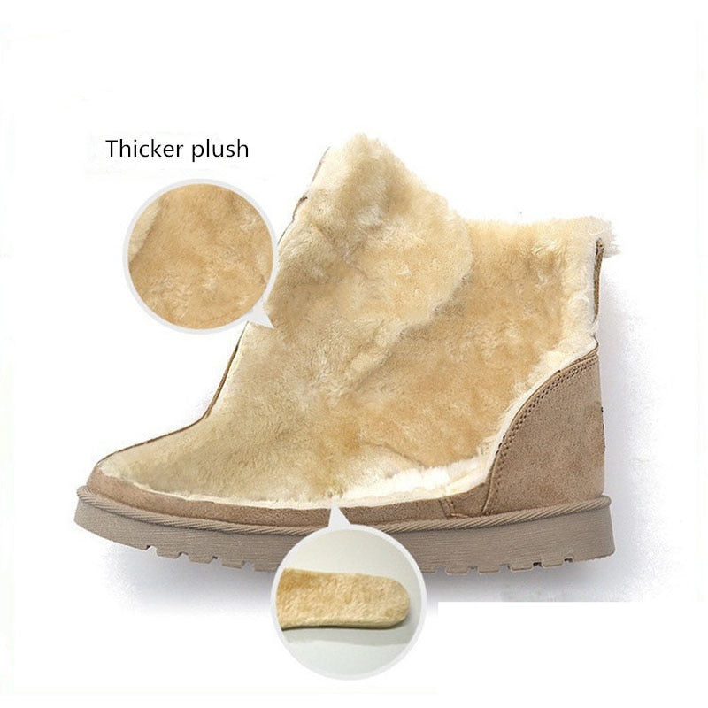 b4912683f Classic Women Snow Boots Super Warm Winter Boots Suede Lace-up Female Ankle  Boots