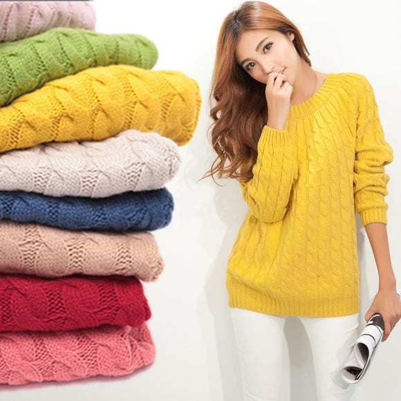 Sweater Women Autumn Winter Fashion Basic Pullover Female Jumpers Long Sleeve Pull Femme