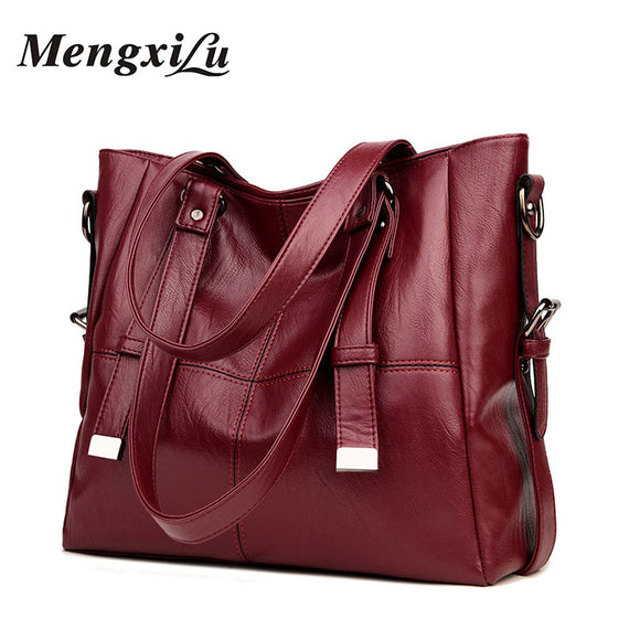 Women Shoulder Bags Large Capacity Women Handbags High Quality PU Leather