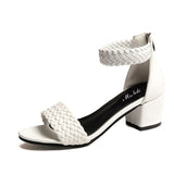 Thick heel sandals summer comfortable open toe fashion woman casual sandals