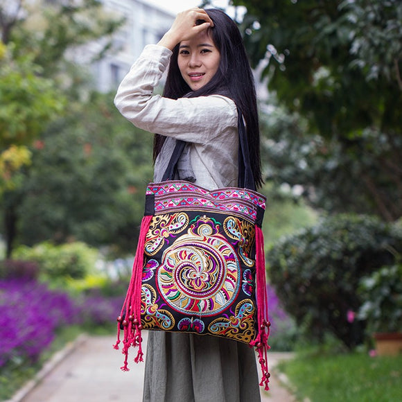 New national trend embroidered bags handmade flower embroidery ethnic