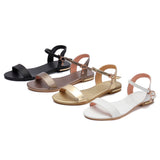 Women Sandals Soft Rubber Sole Basic Buckle Strap Women's Summer Shoes