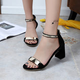 Ladies Shoes Summer Gladiator Sandals Women High Heels Sandals Party Wedding Shoes Glitter