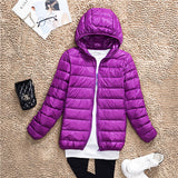 Women Ultra Light Duck Down Jacket Plus Size