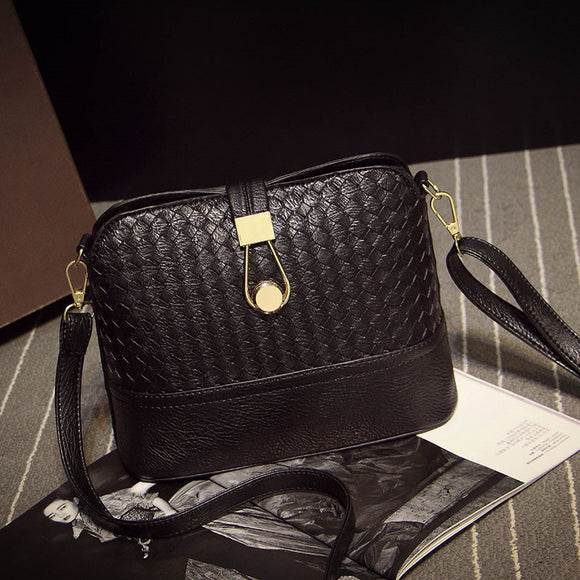Vintage small black plaid handbags high quality ladies purse women shoulder crossbody bag