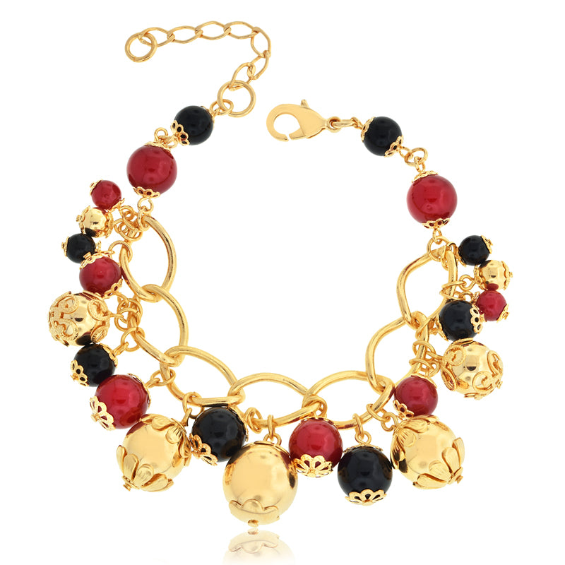 14k Gold Filled Bracelet Indian Style Jewelry Beads Women Fashion Dance - Jewelry Paradise