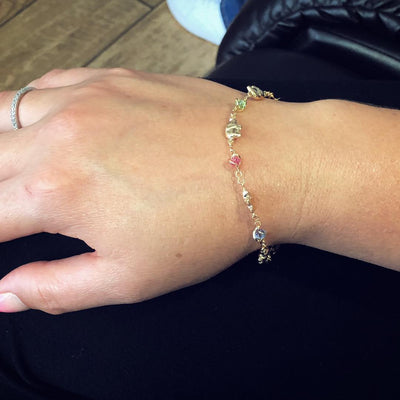 Gold Filled Bracelet Elephant Women Good Luck Birthstone Pulsera Elefante Suerte - Jewelry Paradise