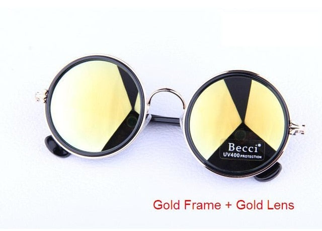 Round Circle Sunglasses for Women Fashion Retro and Vintage Glasses Female Gafas De Sol - Jewelry Paradise