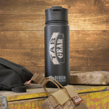 "18 oz. TAB Gear Stainless Bison Bottle <img src=""//cdn.shopify.com/s/files/1/2701/2338/files/Bison-logo_grande.png?v=1542087269"" alt="""" width=""78"" height=""24"" />"