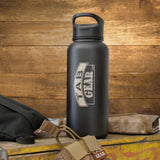 "32 oz. TAB Gear Stainless Bison Bottle <img src=""//cdn.shopify.com/s/files/1/2701/2338/files/Bison-logo_grande.png?v=1542087269"" alt="""" width=""78"" height=""24"" />"