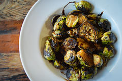 Our Balsamic Glazed Brussel Sprouts!