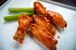 Wing Platter with Buffalo Sauce