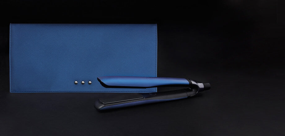 ghd platinum+ styler in cobalt blue