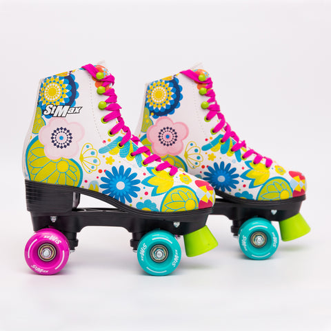 Stmax Quad RollerSkates Girls & Boys Outdoor Classic,Floral