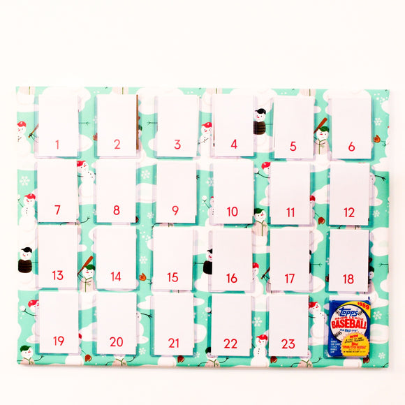 Tailgate DIY: Baseball Card Advent Calendar