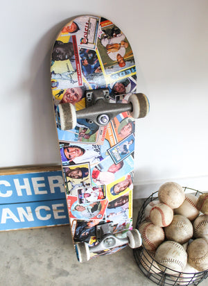 Tailgate DIY: Baseball Card Skateboard