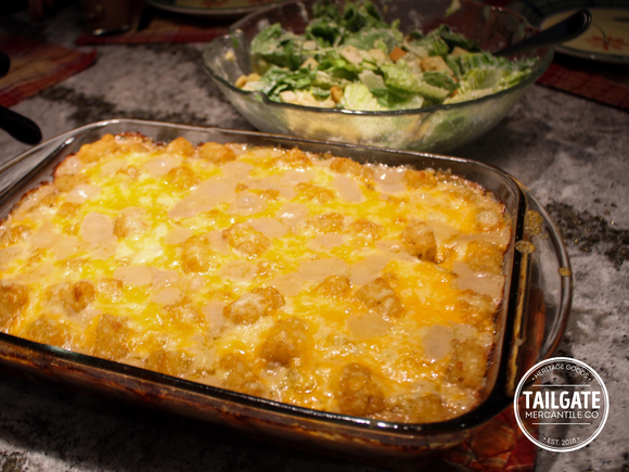 Tailgate Food + Drink: Tater Tot Casserole