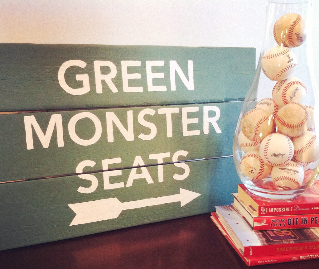 Green Monster Seats Sign Boston Red Sox