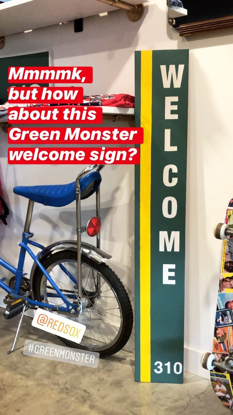 Boston Red Sox Green Monster Welcome Sign
