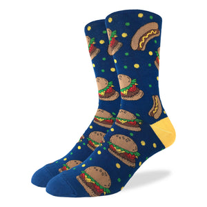 Good Luck Socks Burgers & Hot Dogs