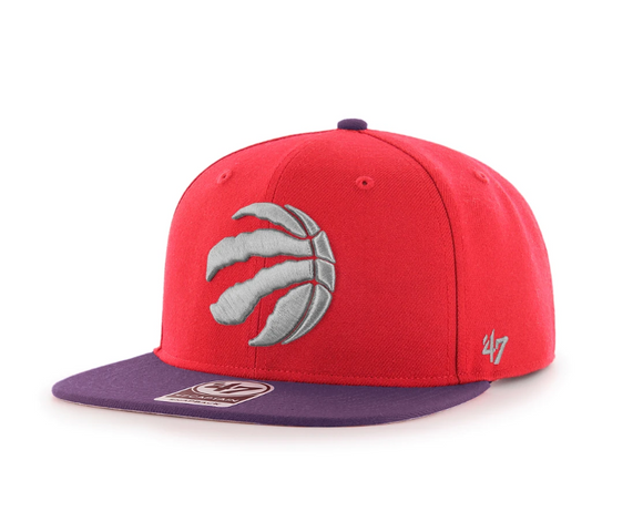47 No Shot 2 Tone Metallic Captain Toronto Raptors Snapback