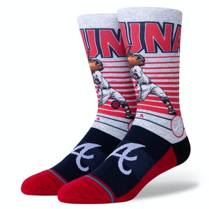 Stance Socks MLB Stadium Acuña Big Head