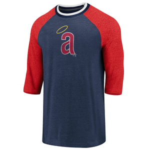 Fanatics Cooperstown Collection Tri-Blend 3/4 Sleeve California Angels