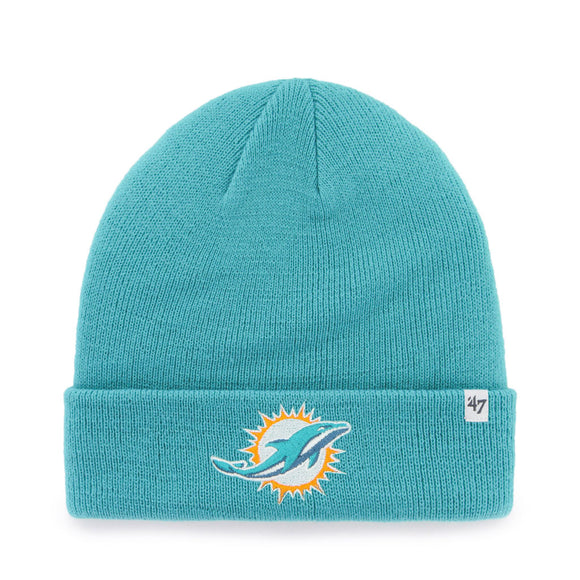47 Raised Cuff Knit Hat - Miami Dolphins