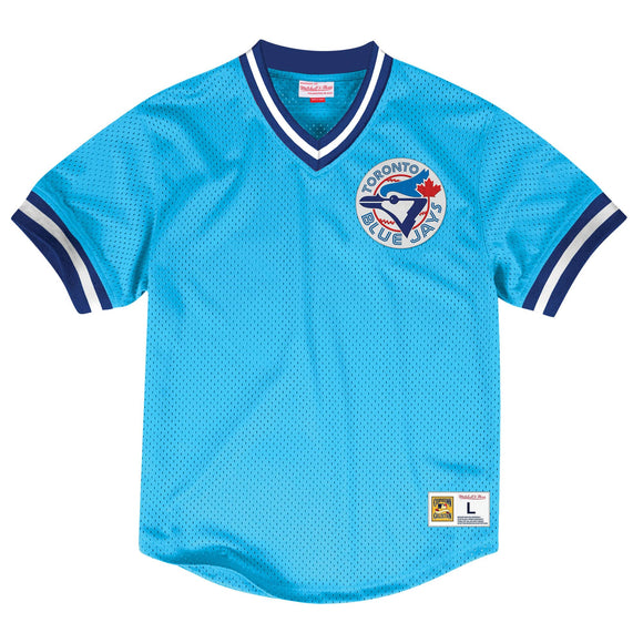 M+N Mesh V-Neck - Blue Jays