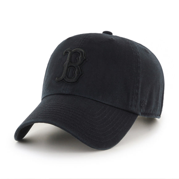 47 Clean Up Boston Red Sox Black on Black Hat