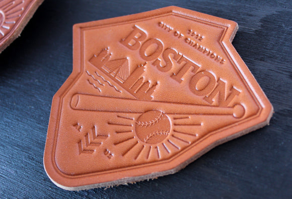 Sandlot Goods Ballpark Leather Coasters