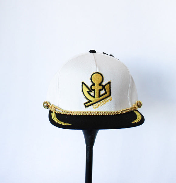 GONGSHOW Hat - Captain Clutch White
