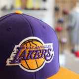 Mitchell & Ness Wool Logo 2 Tone 110F LA Lakers Snapback