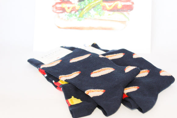 Friday Hot Dog Socks