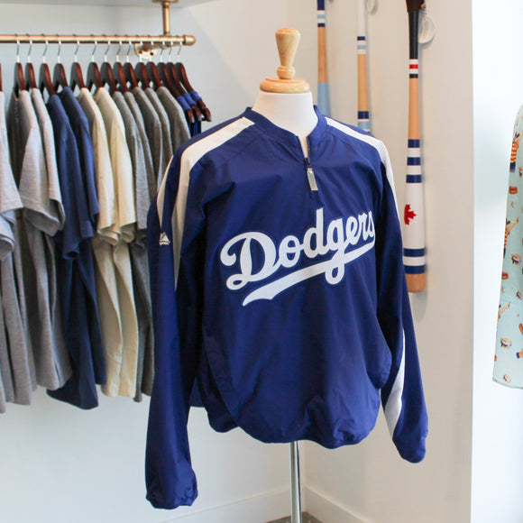 VINTAGE/PRELOVED - Majestic Mesh-Lined 1/4 Zip Pullover Los Angeles Dodgers