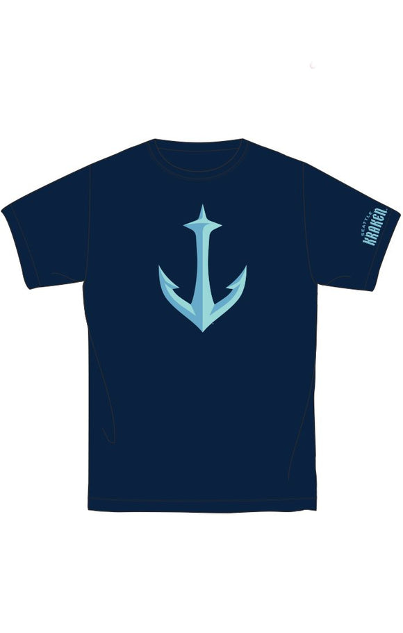 Red Jacket Seattle Kraken Brass Tacks Tee (Navy w/ Anchor)