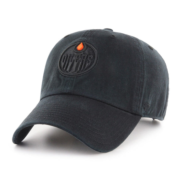 47 Clean Up Edmonton Oilers Black on Black Drip Hat