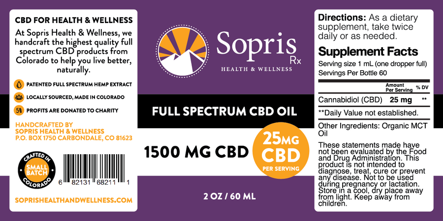 Full Spectrum CBD Oil - 1500mg / 2oz