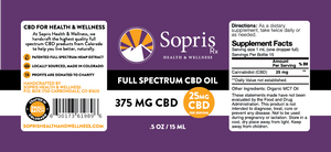 Full Spectrum CBD Oil - 375mg / 0.5oz