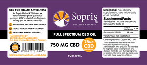 Full Spectrum CBD Oil - 750mg / 1oz