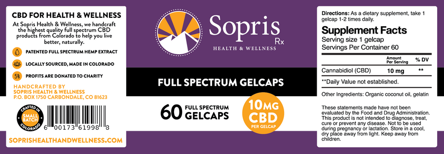 10 mg Full Spectrum CBD Gelcaps