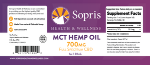 MCT Hemp Oil - 700mg Full Spectrum CBD