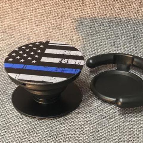 Thin Blue Line Cop Socket