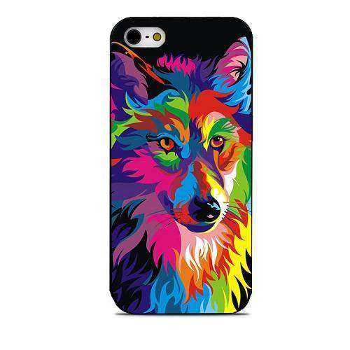 funky wolf phone case