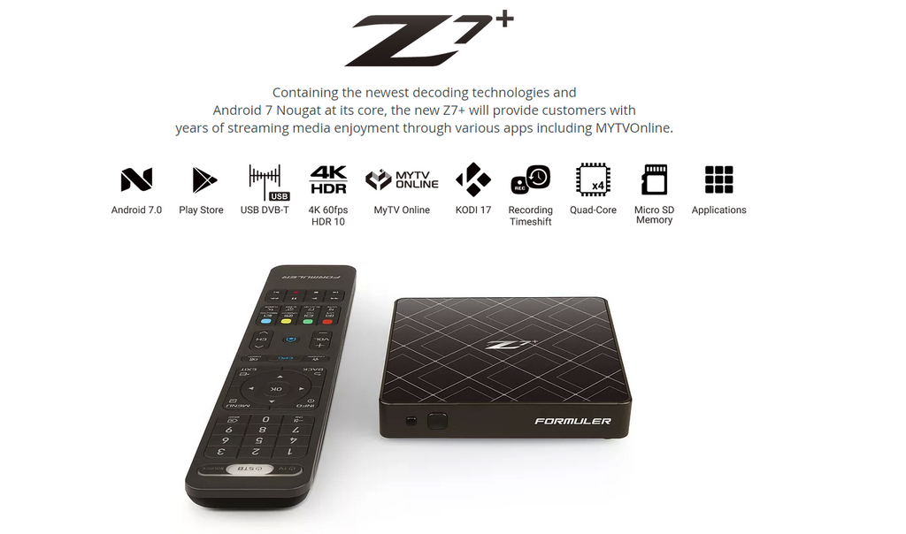 Formular Z7 with Kodi build, Mobdro and Terrarium TV