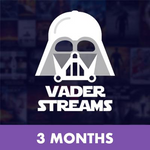 Vader Streams 3 Month Subscription