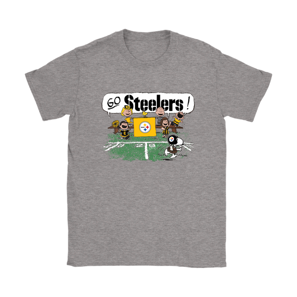 a43630dee The Peanuts Cheering Go Snoopy Pittsburgh Steelers Shirts – American  Football T-Shirts